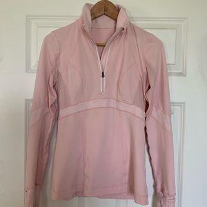 Lululemon Half Zip Pullover Workout Top Baby Pink